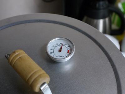 温度は少し高めに設定。理由はカレーは熱い方が好きだから。