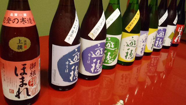 女優に日本酒を注いでいただいて10種類飲み比べてきました。