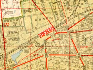 「かさほを」ってなんだ?「大阪市街新地圖(1922大淵善吉)」