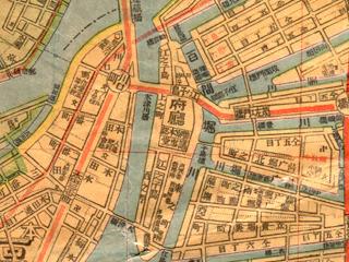 府庁「大阪市街新地圖(1922大淵善吉)」