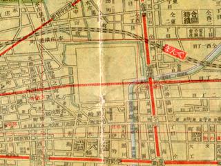 扇町公園「大阪市街新地圖(1922大淵善吉)」