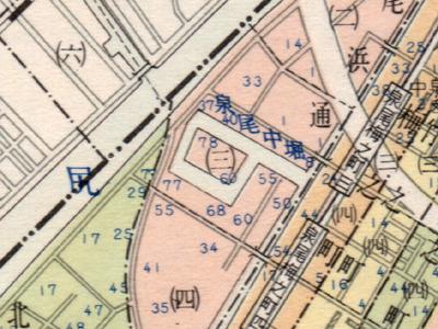 あの島になにがあったんだろう?「大阪市区分地図帖」(1966昭文社)