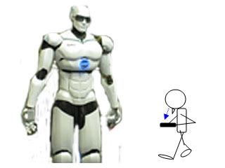 下を向いて歩いていると、前方の脅威(悪のロボット)に気づくことができない