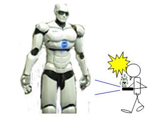 カメラがついていれば、前方の脅威(悪のロボット)に気づくことができる