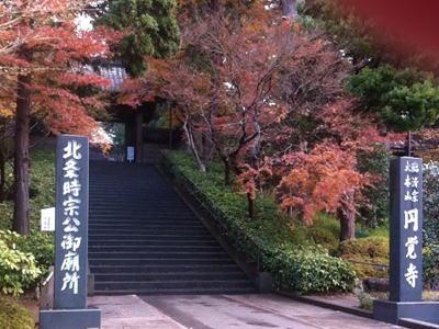 紅葉まっさかりの鎌倉