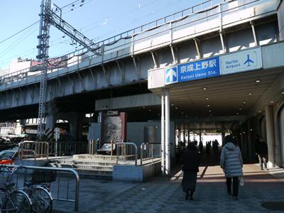アメ横のある上野にやってきました