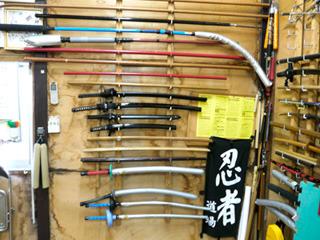 刀や槍といった日本の武器から