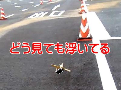 飛んでる!(墜落する瞬間だけど)