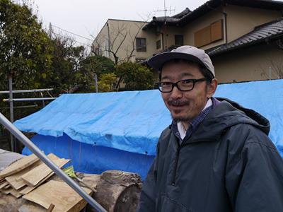 臼職人、柴田さん。