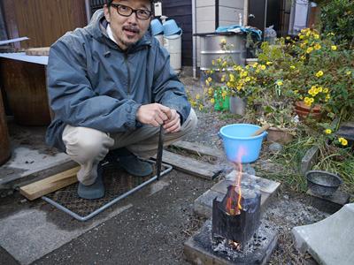 焚き火職人。