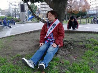 疲れたら木陰で寝ちゃうことだってできる