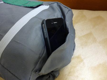 iPhoneがピッタリ収まるサイズ