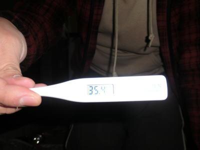 あれ? 平熱より下がってる
