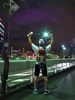 20時30分大東京マラソンゴール。90kmおよそ14時間半の楽しい旅でした。