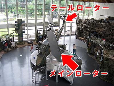 自衛隊の広報センターで撮ってきた戦闘ヘリ。