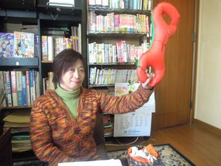 後日撮影させてもらった写真より、本記事のキーマンとなるマンガ家の三谷美佐子先生