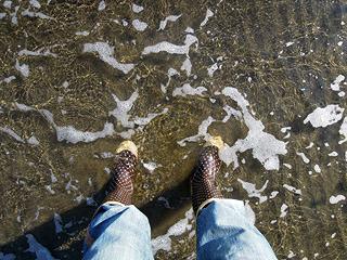 雨、雪道、海。長靴ってオールマイティー