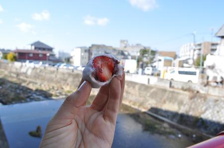 イチゴ大福は美味かった。