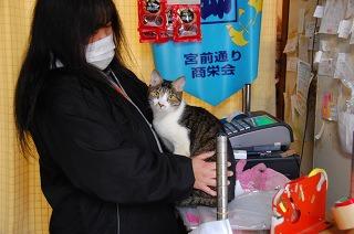ネコを抱きながら教えてくれた