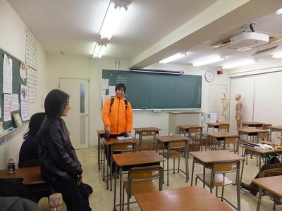 ひとクラス30人くらい。写っている人はクラスメイト