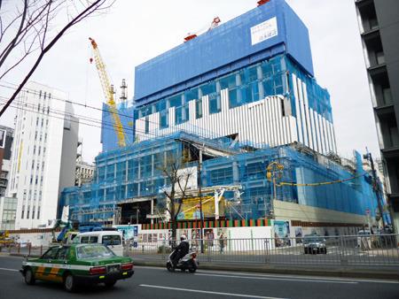 銀座の歌舞伎座は既に新築工事中