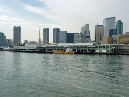 勝鬨橋から見た築地市場