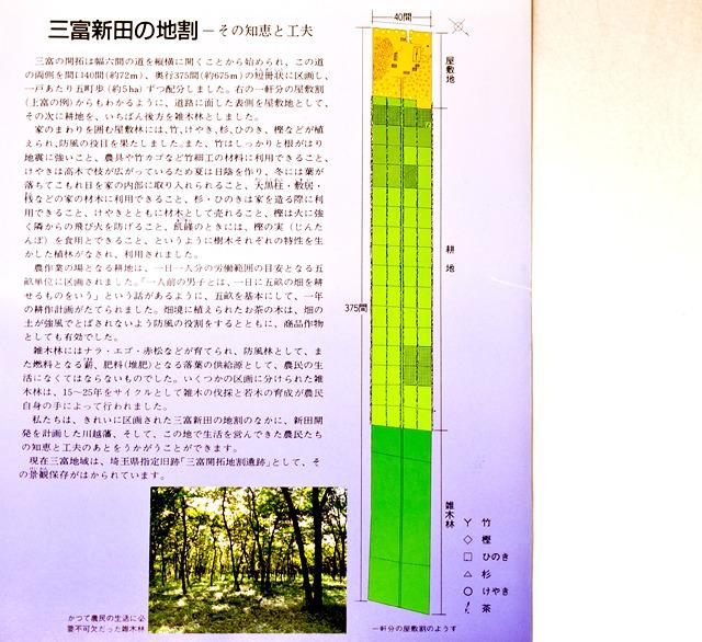 短冊地割りは長手方向にいくつかのエリアに分かれていると。へー。しかし「なぜ短冊状」かは記されていない。なぜだ。常識なのか?