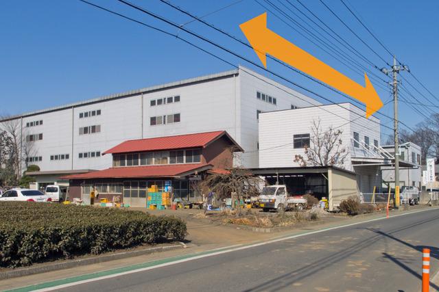倉庫の幅が、短冊の幅。