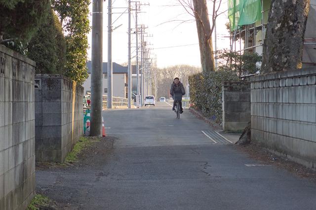 しばらく歩いたら、こういう道が横に見えた!このまっすぐ具合は…ここだっ!
