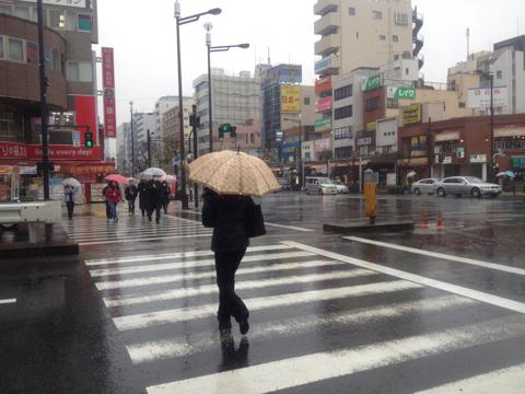 2月7日、東京は雨。