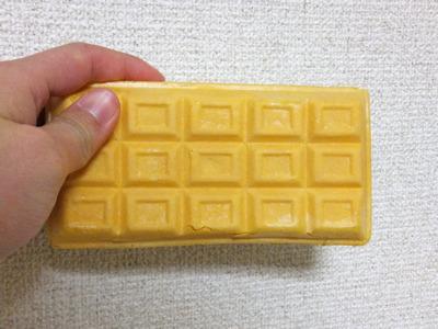 しっかりチョコレートの形をしてる