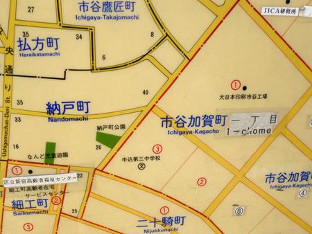 江戸時代からそのままかという町名が並ぶ