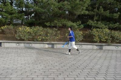 マラソンを走りながら