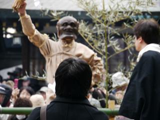 西村さんと鬼が対峙してるのがおもしろくて何枚も撮りました