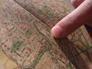 三田、高輪周辺には旧町名が多い