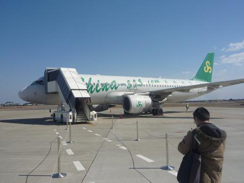 もう飛行機到着。ほんとバスターミナル感覚だなあ。