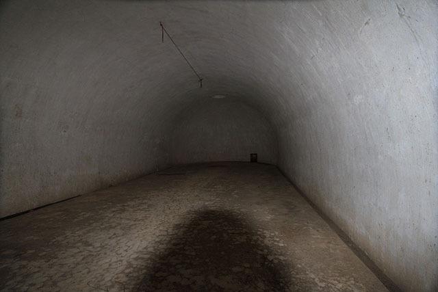 写真だとフラッシュを焚いてるので明るく見えるが実際は真っ暗。