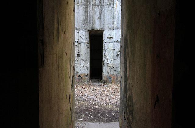 砲塔部に来たら自分の足音がすごい響く。
