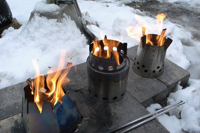 3つともに炎の出方に特徴はあるが、それぞれよく燃える。