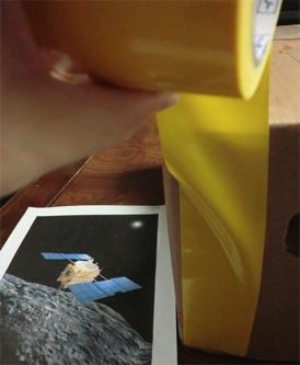 黄色いテープで!!!  これを貼りまくって アレしていきたいと思います。    ではまず 一面を