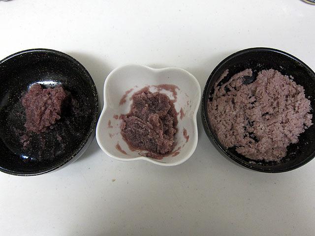 左から、ゼラチン等倍(レシピどおり)、ゼラチン1.5倍、ゼラチン2倍。2倍のが露骨にパサパサなのが心配である