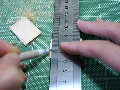 端っこから約1.5mmのところに線をひく。