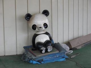 虚ろな表情のパンダが気になる