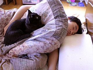 寝てると猫が乗ってきてうなされたりします。