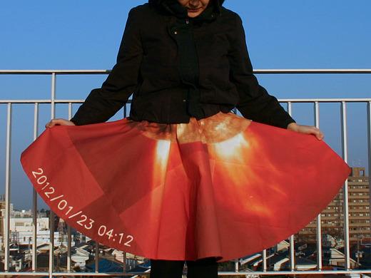 開いて初めて「お、このスカート、太陽フレア?」と、わかる人にはわかる、かもしれない。