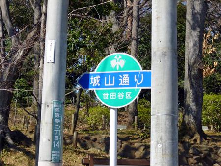 目の前の道はその名も城山通り