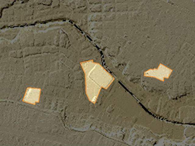地形には関係なさそう(「東京時層地図」の画面をキャプチャしたものを加工。以下同様)