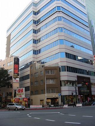 要するに、こういうビルのせめぎ合いと同じ理屈なのではないかと(「ビルに挟まれたちっこい建物鑑賞」より)。秋葉原のヨドバシカメラの敷地とか渋谷の109とかね。