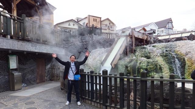 群馬県の草津町に来ています