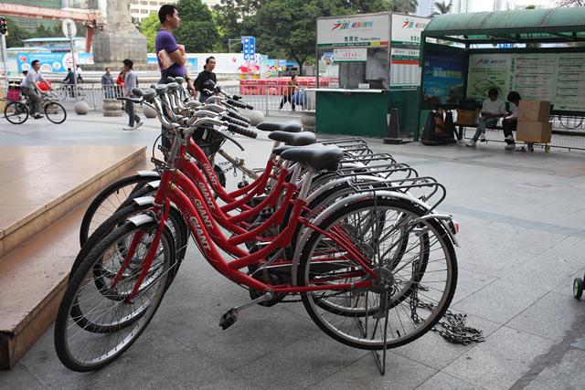 もちろん管理も行き届いている。中には電動のレンタサイクルもあった。さすが中国、自転車大国。